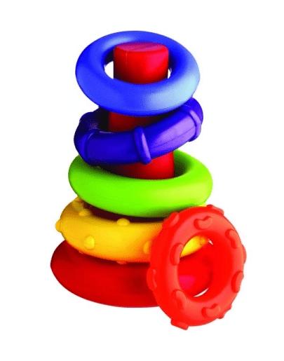 PLAYGRO Конус с цветни рингове 0112